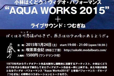 """小林はくどう:ヴィデオ・パフォーマンス""""AQUA WORKS"""""""