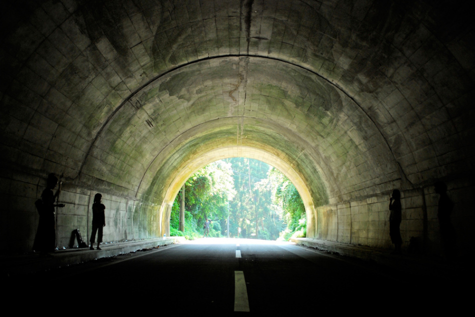 つむぎねトンネルパフォーマンス Tsumugine performance in a tunnel